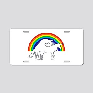 Humping Unicorns Aluminum License Plate
