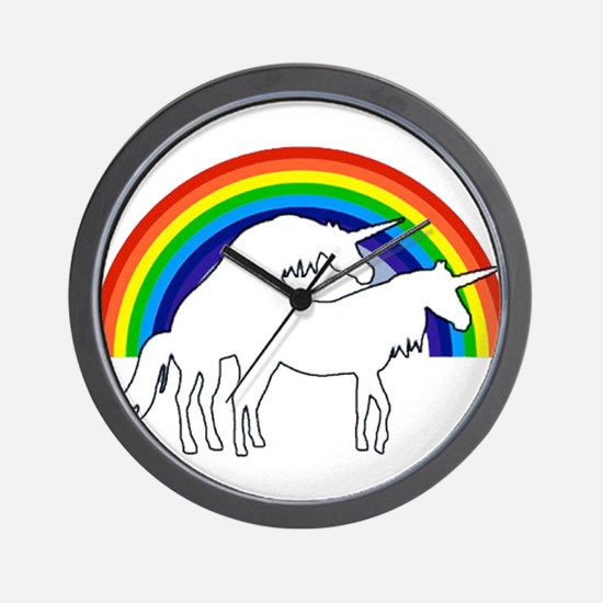 Humping Unicorns Wall Clock