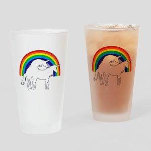 Humping Unicorns Drinking Glass