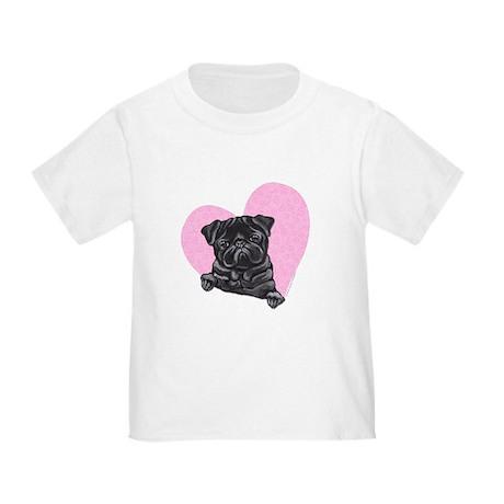Pug Nero Sentire Rosa T-shirt 9C8JPMXo11