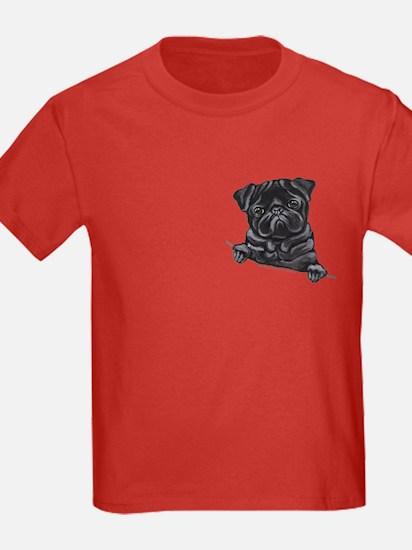 Black Pug Line Art T