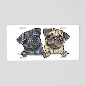 Pug Pals Aluminum License Plate