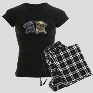Pug Pals Women's Dark Pajamas