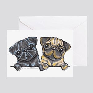 Pug Pals Greeting Card