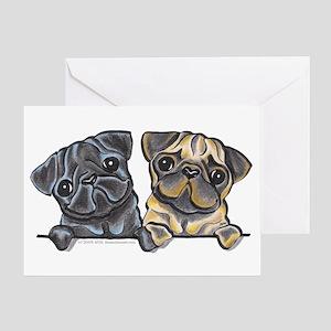 Pug Pals Greeting Card