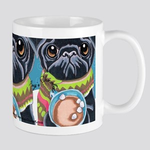Black Pug Chocolate Lover Mug