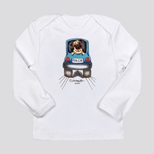 Pug Lover Car Long Sleeve Infant T-Shirt