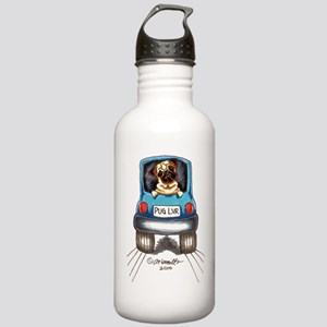 Pug Lover Car Stainless Water Bottle 1.0L