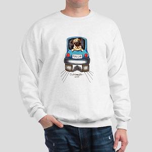 Pug Lover Car Sweatshirt