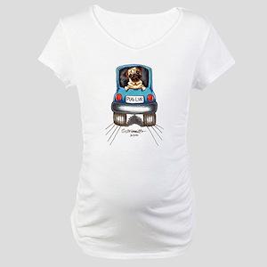 Pug Lover Car Maternity T-Shirt