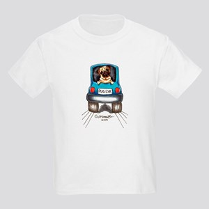 Pug Lover Car Kids Light T-Shirt