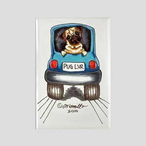 Pug Lover Car Rectangle Magnet
