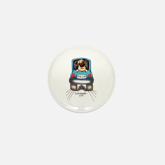 Pug Lover Car Mini Button