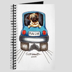 Pug Lover Car Journal