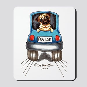 Pug Lover Car Mousepad