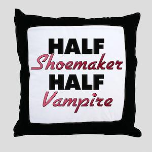 Half Shoemaker Half Vampire Throw Pillow