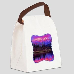 Wonder Lake at Sunset Canvas Lunch Bag
