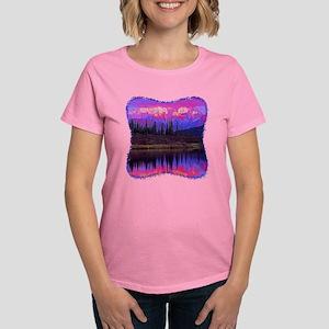 Wonder Lake at Sunset Women's Dark T-Shirt
