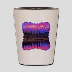 Wonder Lake at Sunset Shot Glass