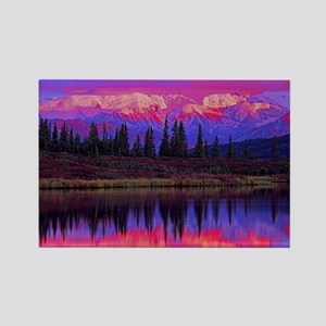 Wonder Lake at Sunset Rectangle Magnet