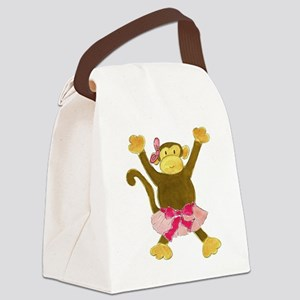 Tutu Tumbling Monkey Canvas Lunch Bag