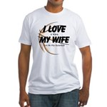 Love My Wife and Basketball Fitted T-Shirt