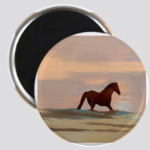 Horse On The Beach Magnet