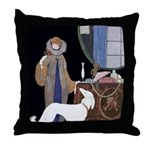Art Deco White Borzoi Throw Pillow