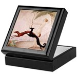 Art Deco Borzoi Diana Keepsake Box