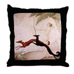 Art Deco Borzoi Diana Throw Pillow