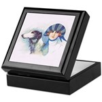 Art Deco Flapper And Borzoi Keepsake Box