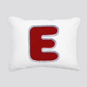E Santa Fur Rectangular Canvas Pillow