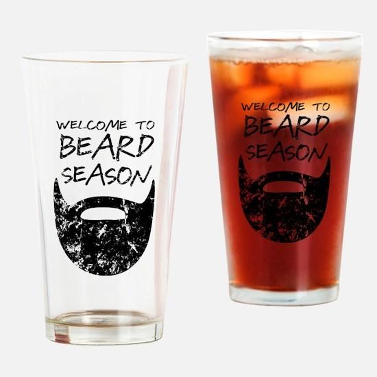 Welcome to Beard Season Drinking Glass