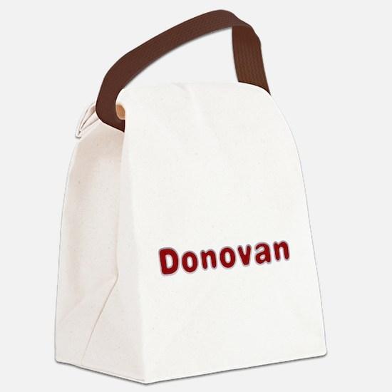 Donovan Santa Fur Canvas Lunch Bag