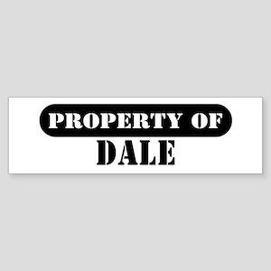 Property of Dale Bumper Sticker