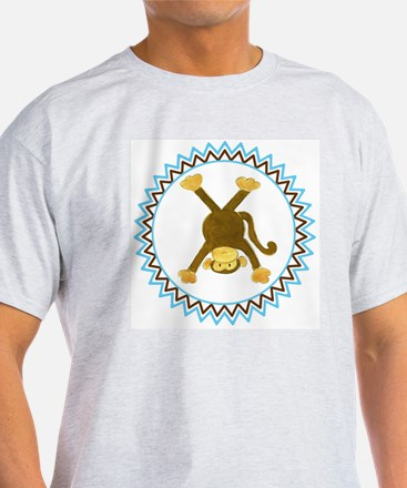 Tumbling Monkey Upside Down Zig Zag T-Shirt