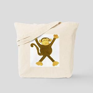 Tumbling Monkey Tote Bag