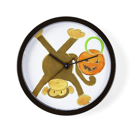 Halloween Tumbling Monkey Upside Down Wall Clock