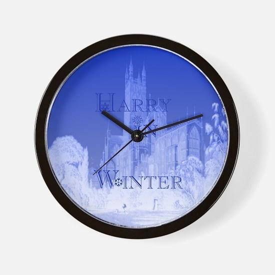 Harry In Winter Wall Clock