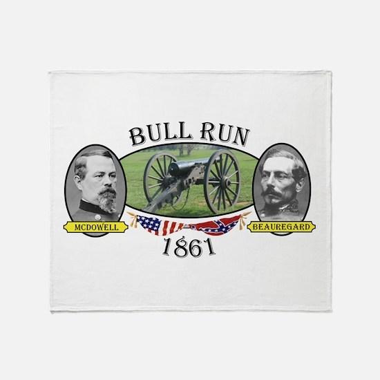 Bull Run (1) Throw Blanket