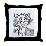 Cats To Color Throw Pillow