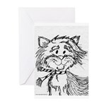 Cats To Color Greeting Cards (Pk of 10)