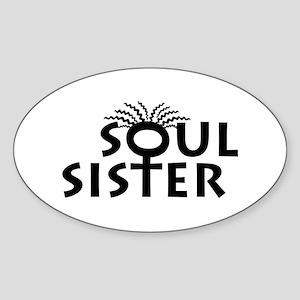 Soul Sister Oval Sticker