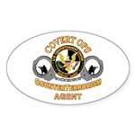 CounterTerrorism Oval Sticker
