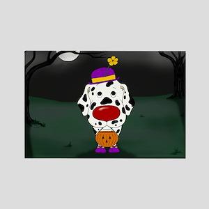 Dalmatian Clown Rectangle Magnet