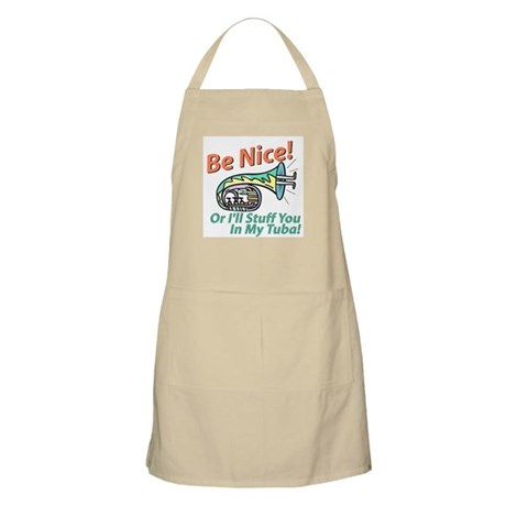 Be Nice Or I'll Stuff You In BBQ Apron