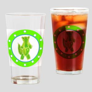 Alligator Polka Dots Drinking Glass