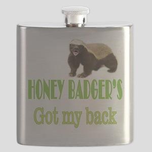Honey Badger's Got My Back Flask