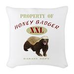 Honey Badger BAMF Woven Throw Pillow