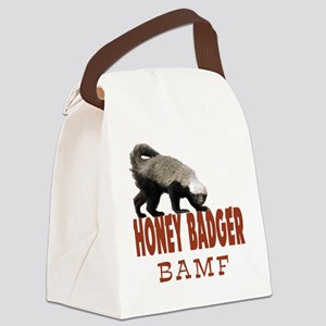 Honey Badger BAMF Canvas Lunch Bag